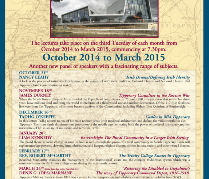 Tipperary People And Places Lecture Series