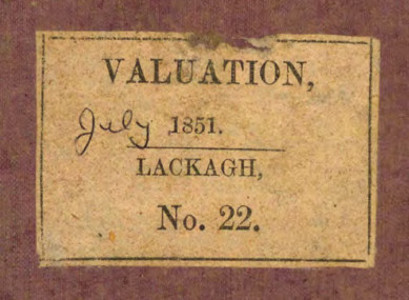Tipperary Studies Digitization Project: Lackagh Rate Book December 1850