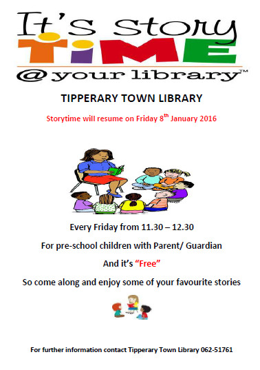 Tipperary Town Storytime To Resume On January 8th