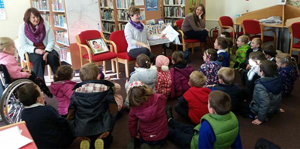 Author Brianog Brady Dawson Visits Borrisokane Library