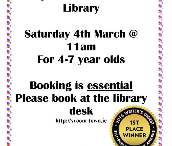 Thurles: Vroom-Town Storytime Saturday 4th March @ 11am