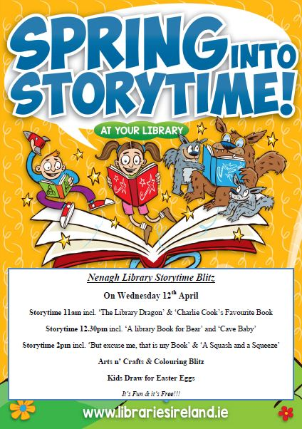 Nenagh Library Storytime Blitz On Wednesday 12th April