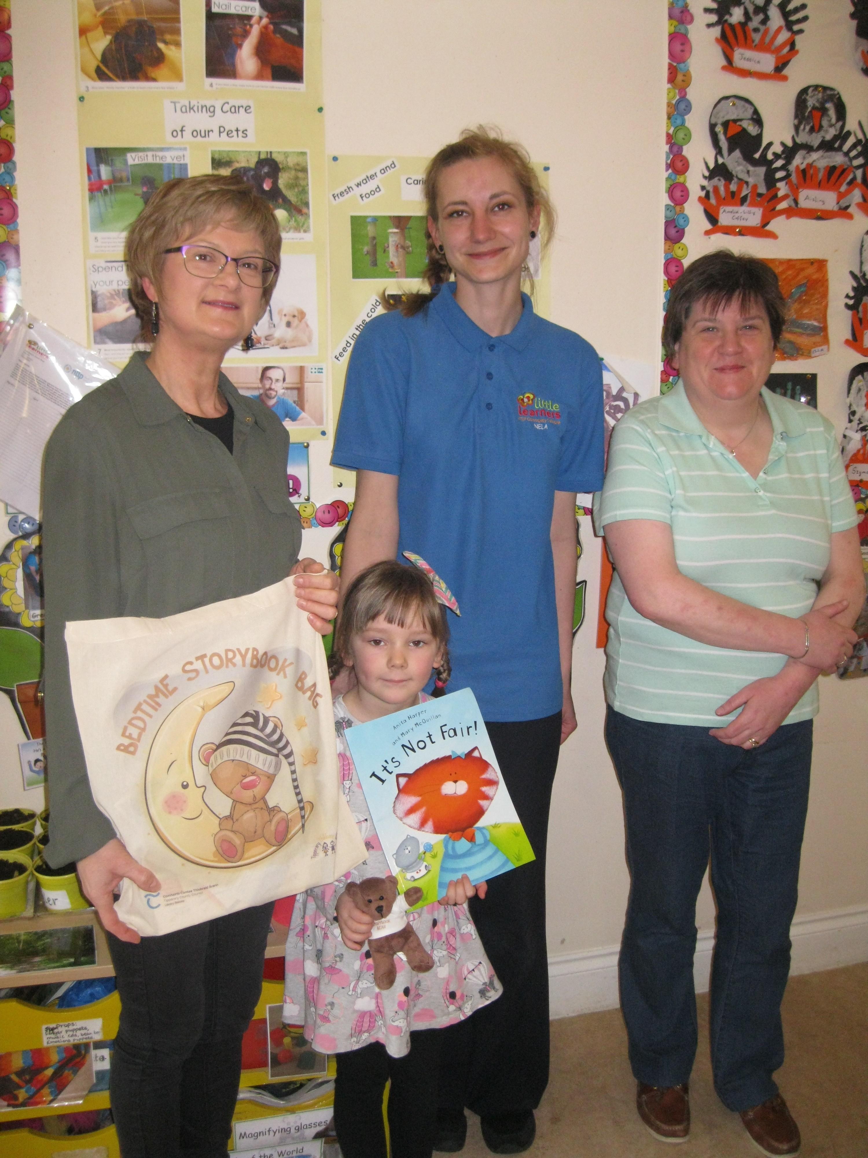 Littler Learners Roscrea. Ellen Kilmartin, Nela Benusova and her daughter Rebecca, Aine Beausang