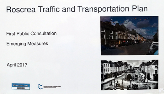 Roscrea Traffic And Transportation Plan Now Available To View In Roscrea Library