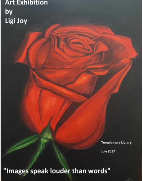 Art Exhibition By Ligi Joy At Templemore Library