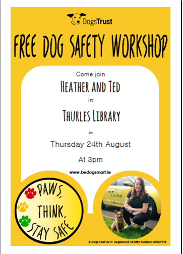 Thurles Library; Dogs trust visit