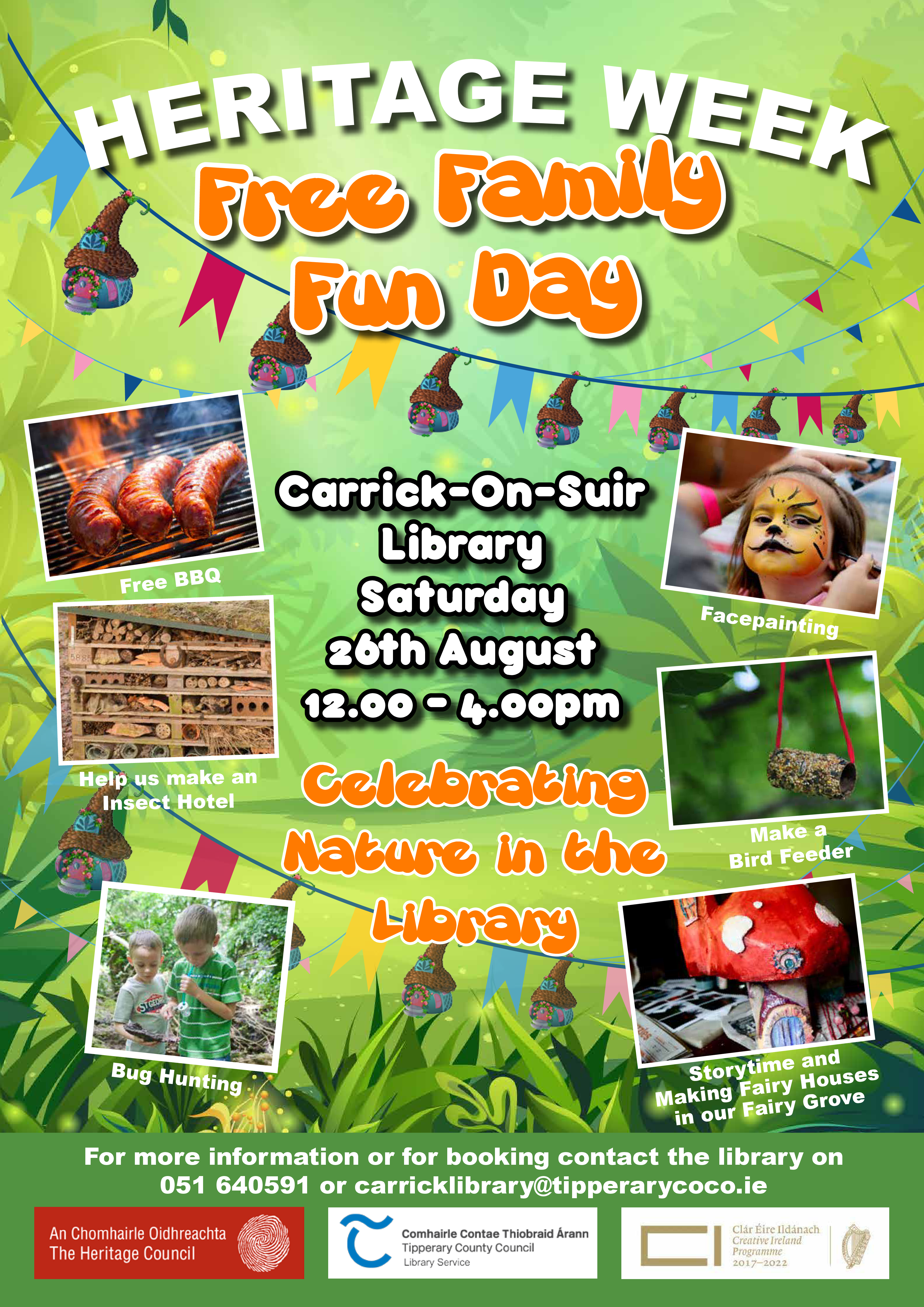 Carrick-on-Suir Library: Family Fun Day Sat 26th August