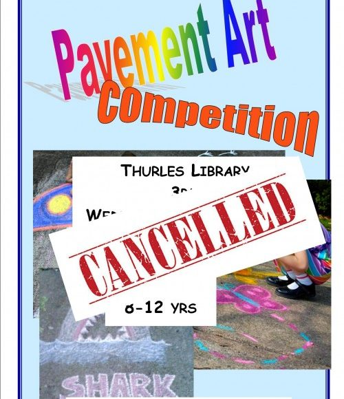 Thurles Library: Pavement Art Cancelled