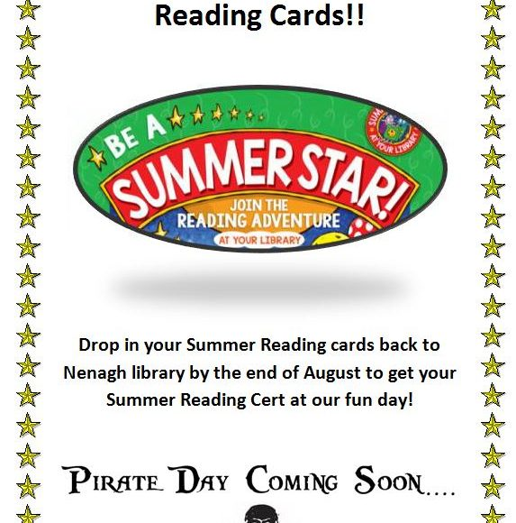 Time To Return Your Summer Reading Cards!