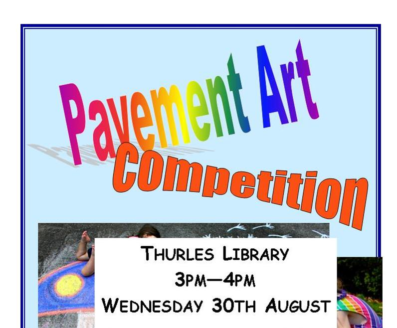 Thurles Library; Pavement Art Competition