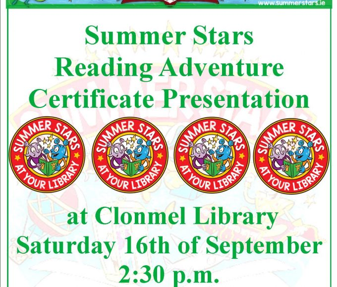 Summers Stars Certificate Presentation At Clonmel Library