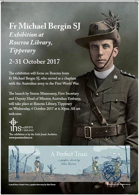 October Exhibition On Fr Michael Bergin By The Irish Jesuit Archives