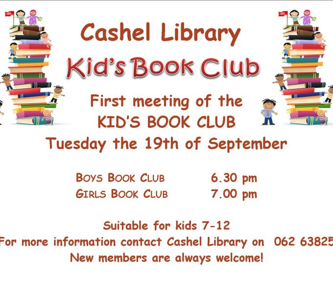 Book Clubs For Kids In Cashel Library