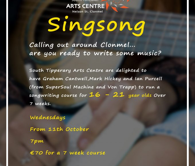 Singsong At South Tipperary Arts Centre Clonmel