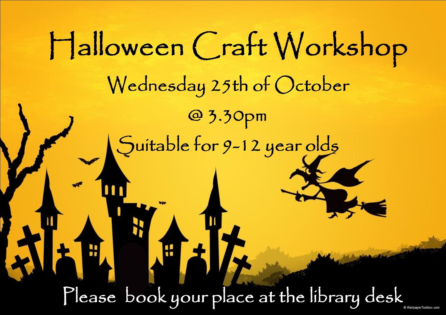 Halloween Craft Workshop In Cashel Library
