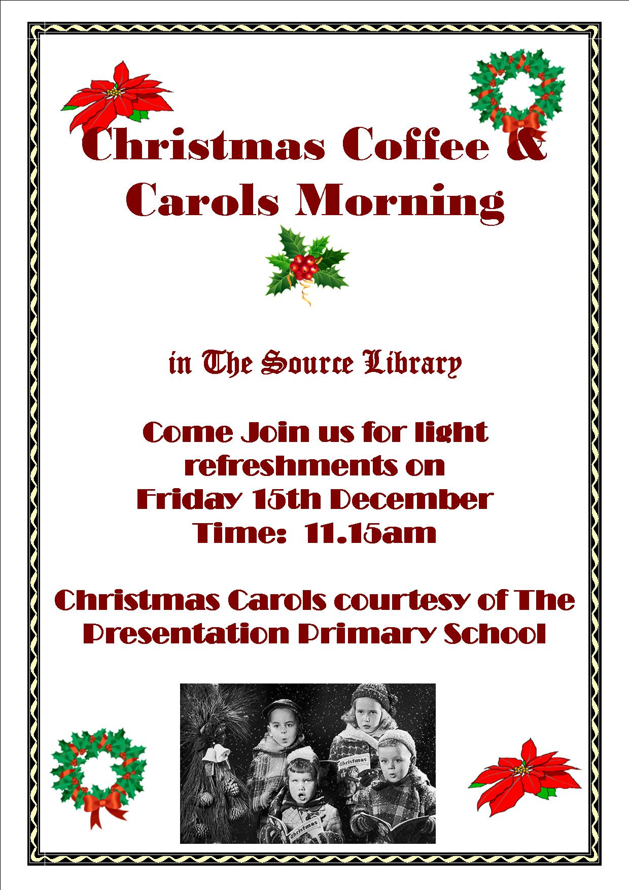 Thurles: Christmas Carols And Coffee Morning In The Source Library