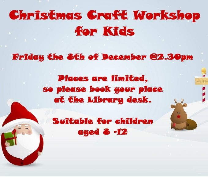 Christmas Craft Workshop For Kids In Cashel Library