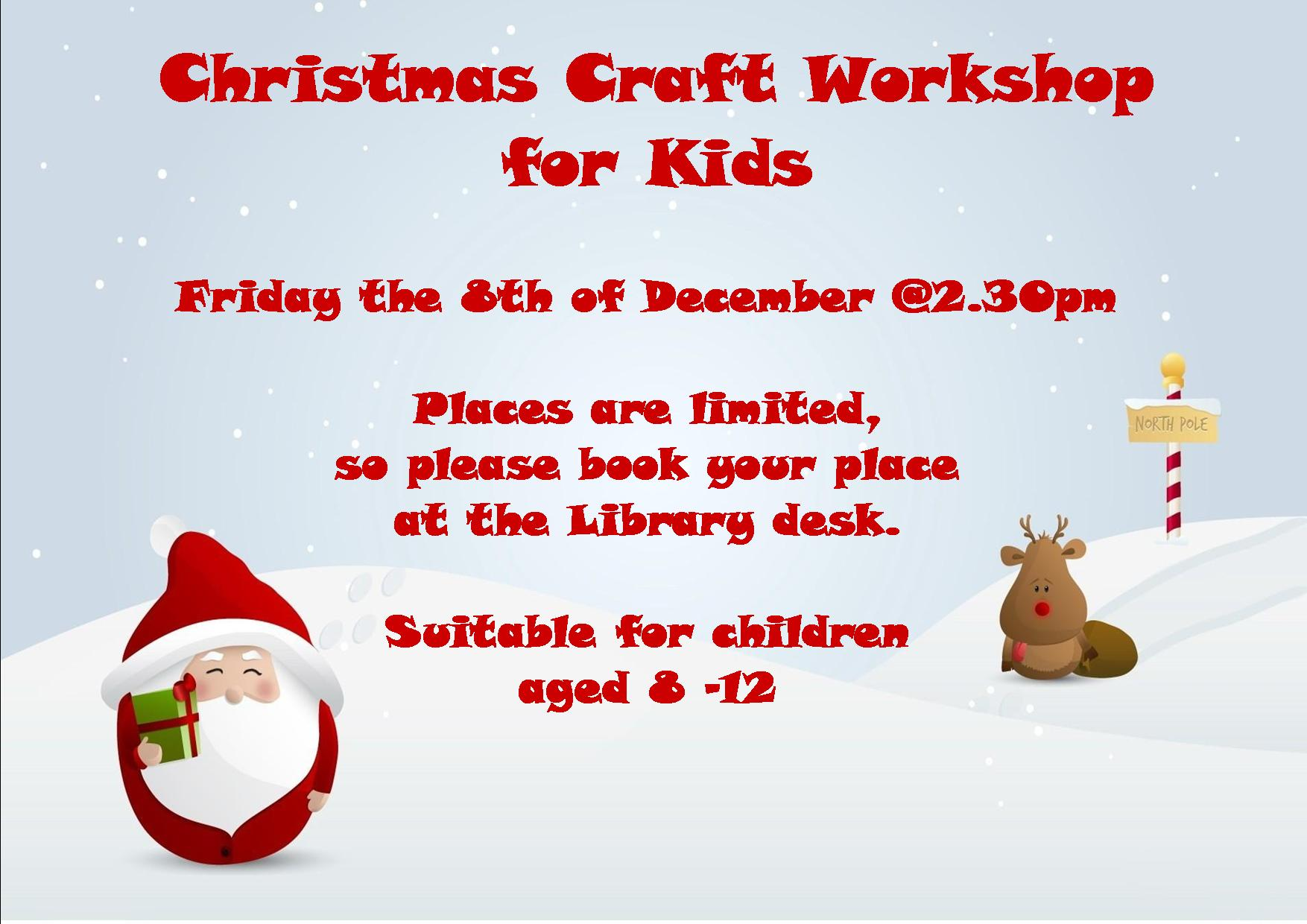 Christmas Craft Workshop For Kids In Cashel Library Tipperary