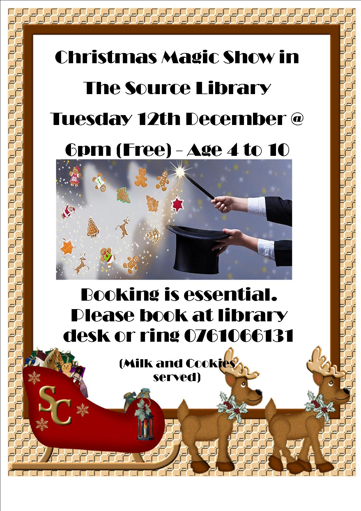 Thurles: Christmas Magic Show At The Source Library