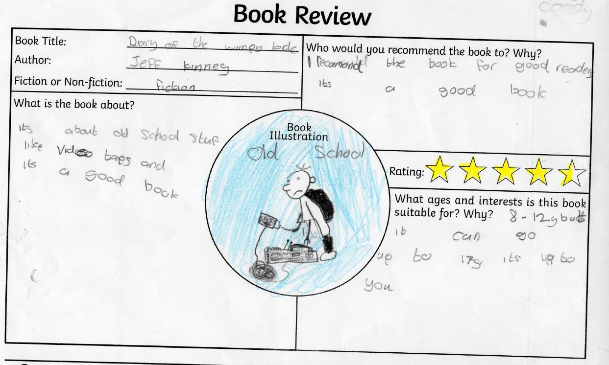 Scoil Mhuire Kilvemnon Book Reviews – Tipperary Library
