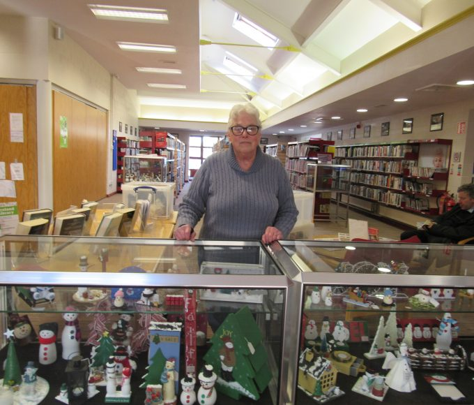 December Glass Case Display: Nenagh Library