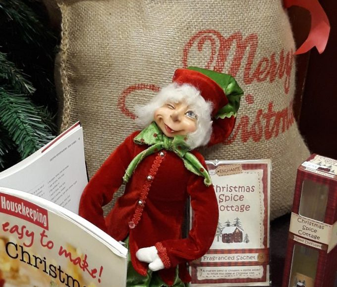 Shabby.ie Displays In Library For Christmas