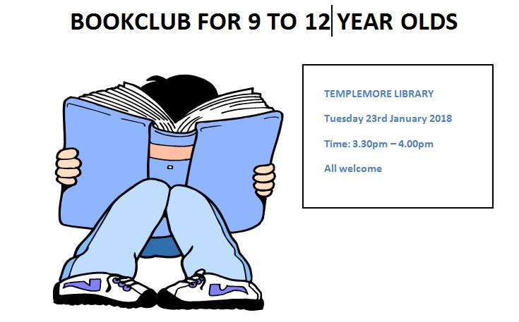 Templemore Library- Juvenile Book Club for 9 to 12 year olds