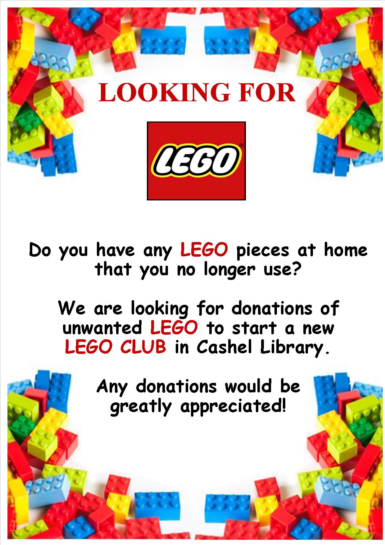 Cashel: Lego Donations