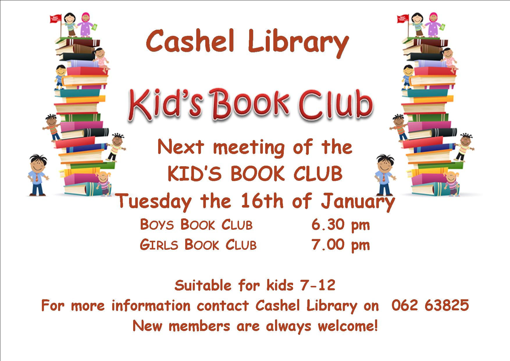 Next Kid's Book Club Meeting in Cashel Library