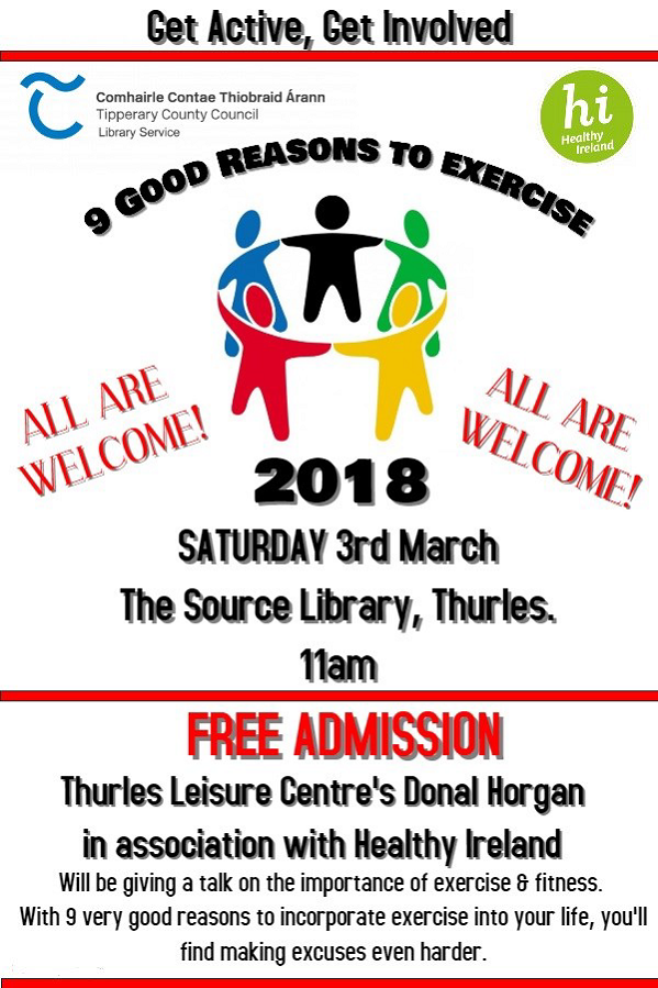 CANCELLEDThurles Library Fitness Workshop With Donal Horgan