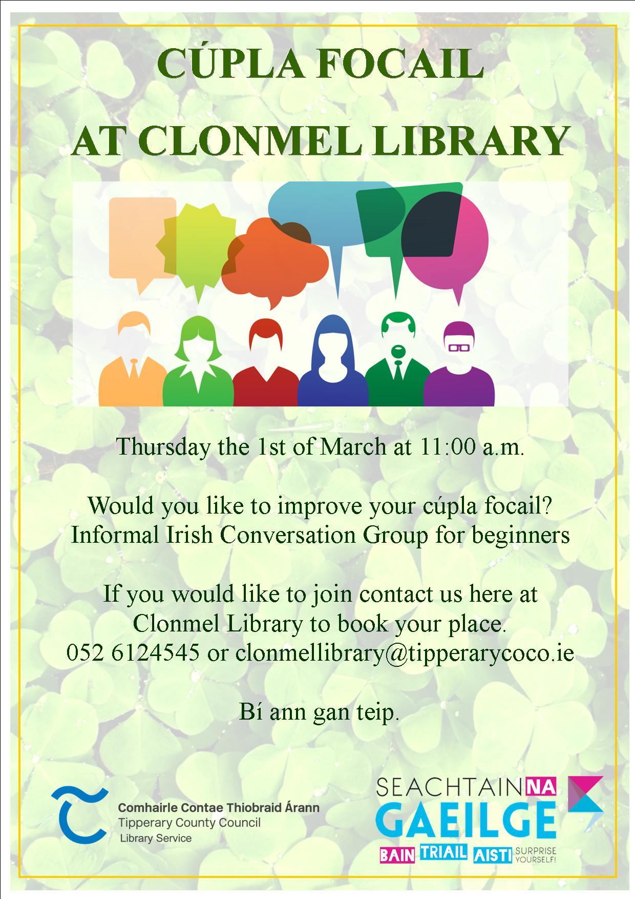 Cúpla Focail At Clonmel Library