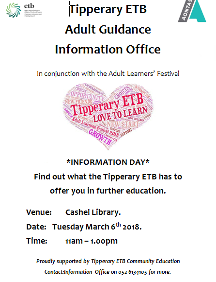 Tipperary ETB Information Day In Cashel Library