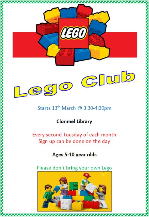 Clonmel Lego Club has arrived – Tipperary Library Service