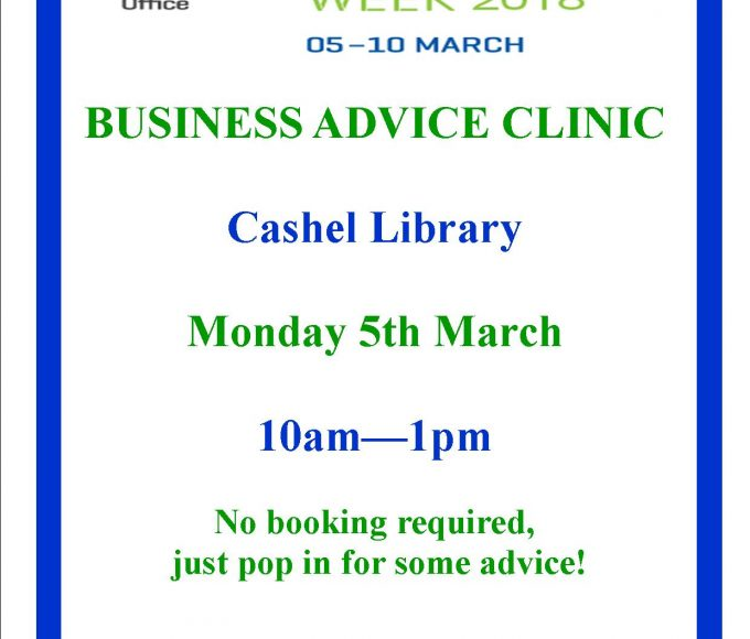 Business Advice Clinic In Cashel Library