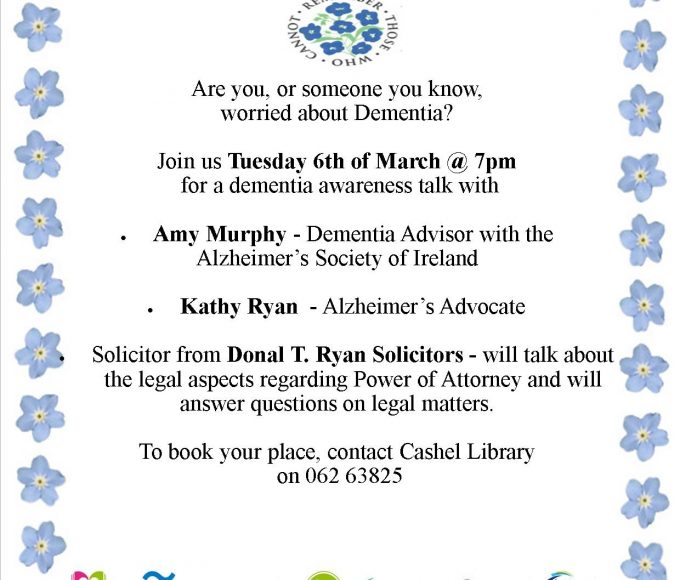 Dementia Awareness Evening In Cashel Library