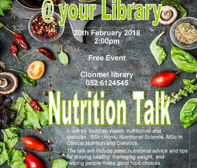 Nutrition Talk At Clonmel Library