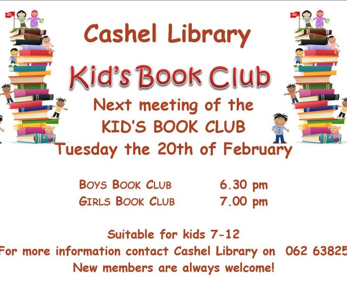 Next Meeting Of Cashel's Kids Book Clubs