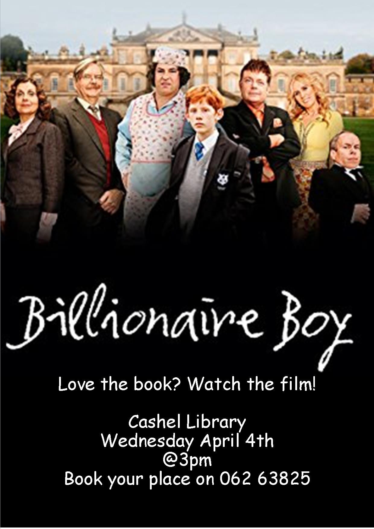 """Billionaire Boy"" at Cashel Library"