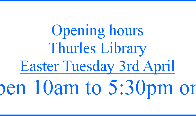 Thurles Library; Easter Tuesday Opening Times