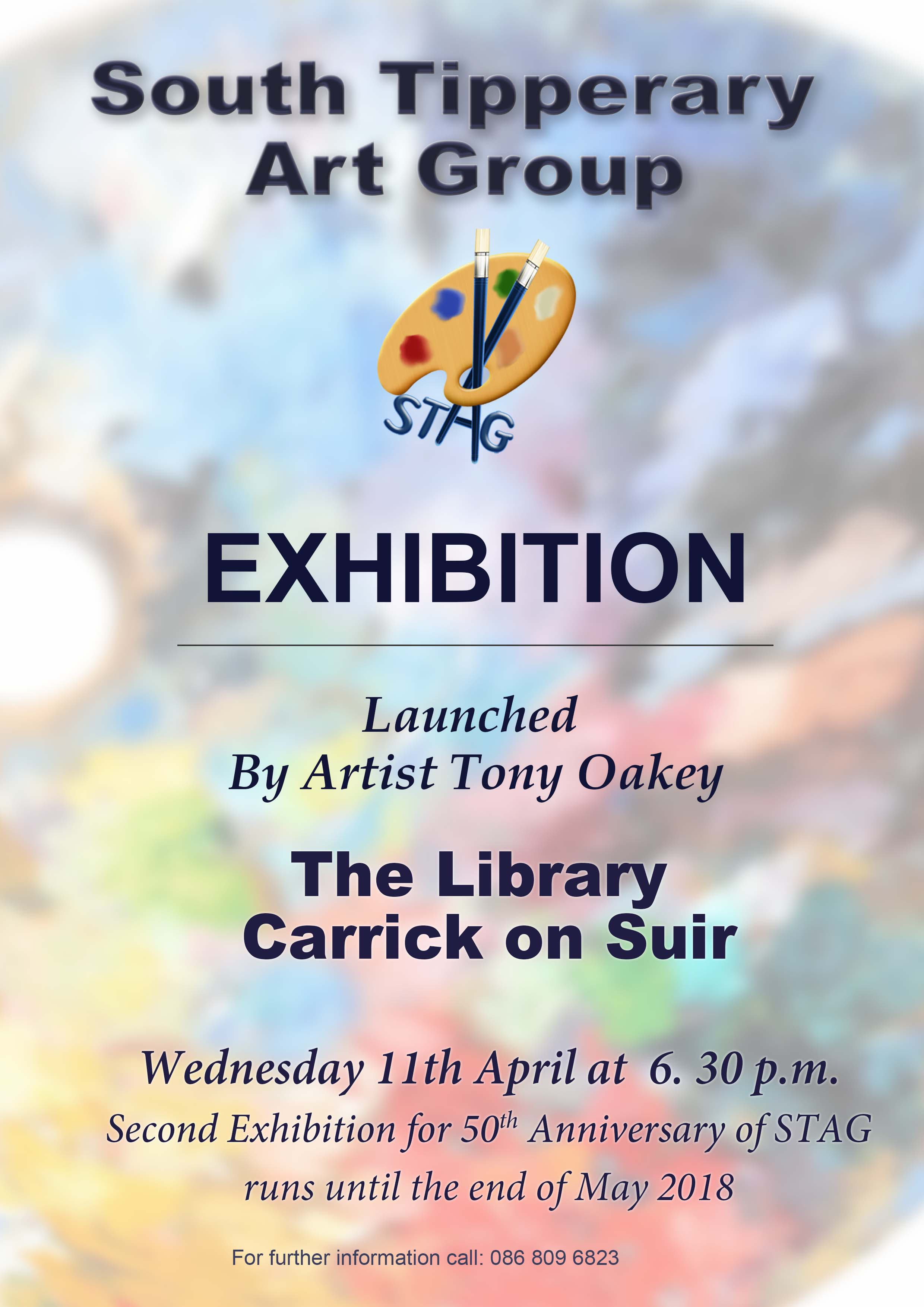 South Tipperary Art Group Exhibition Launch On Weds April 11th In Carrick On Suir Library