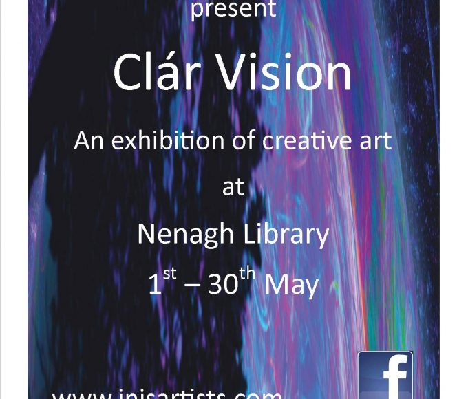 "Inis Artists Present ""Clár Vision"" At Nenagh Library : Bealtaine Festival"