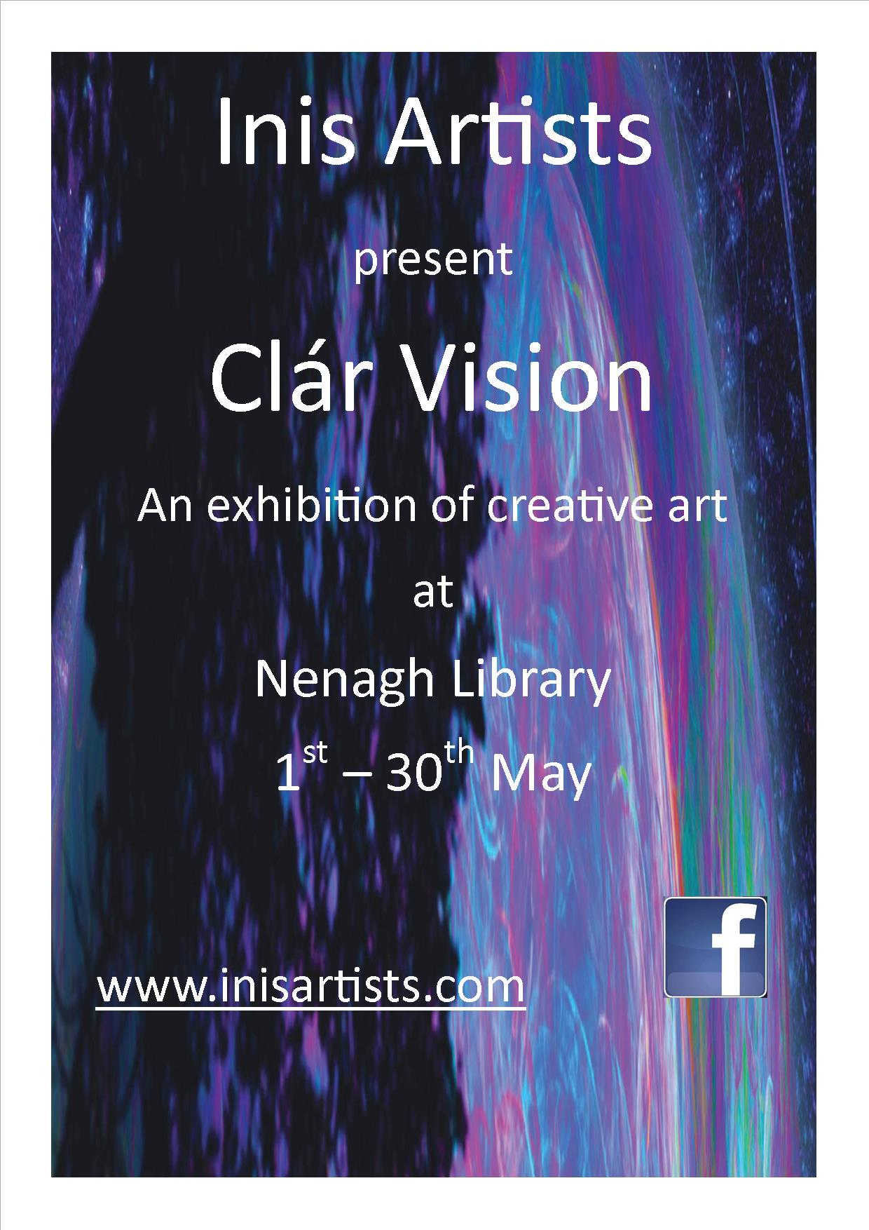 """Inis Artists Present """"Clár Vision"""" At Nenagh Library : Bealtaine Festival"""