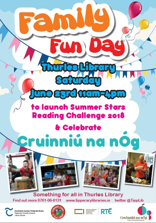Funday Saturday 23rd June In Thurles Library!
