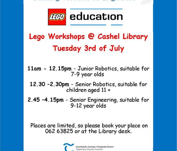 Lego Workshops In Cashel Library