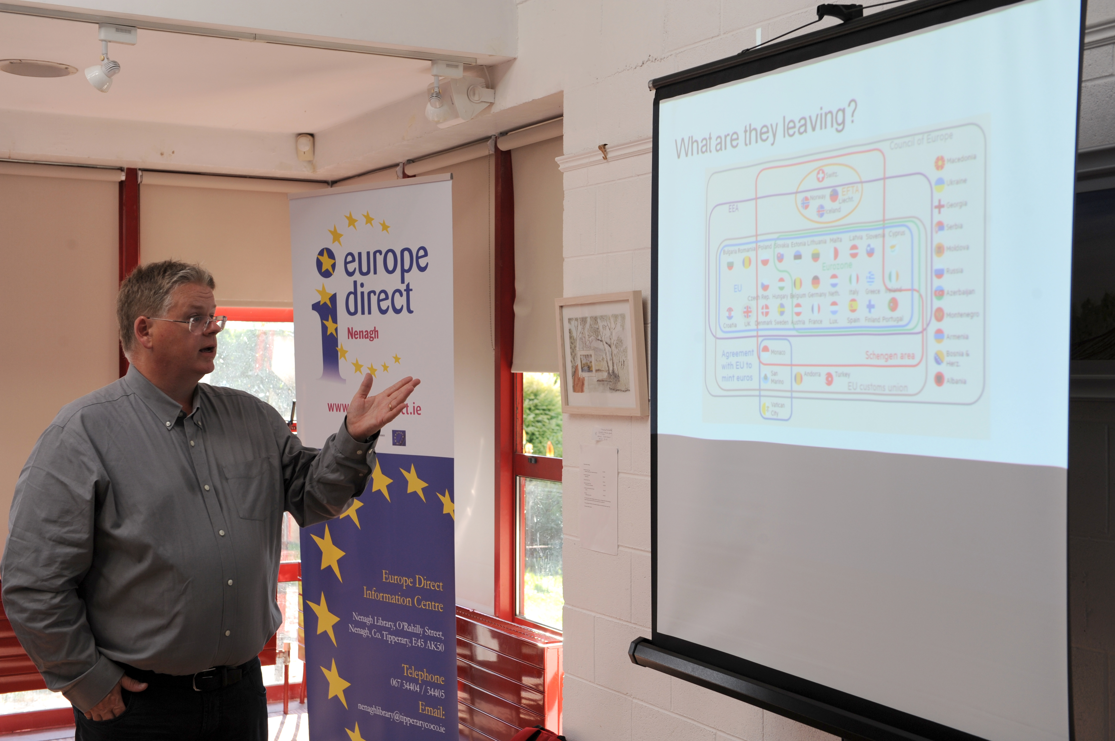 Dr Brian Lucey's talk on Brexit in Nenagh Library