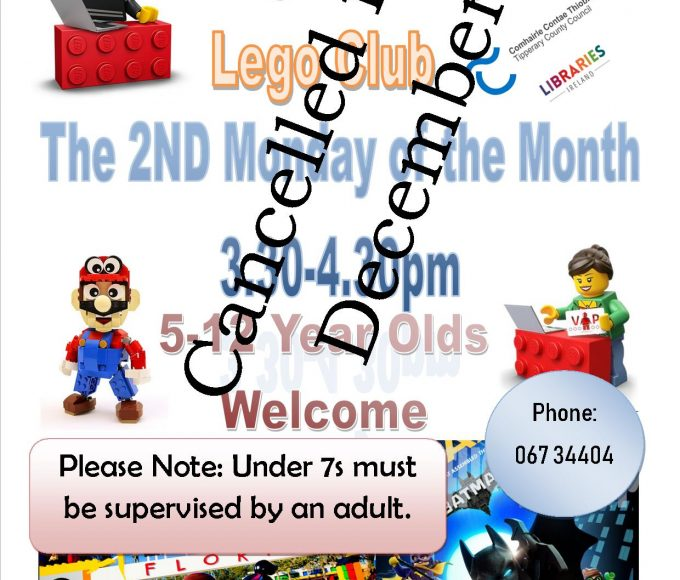 Nenagh Library Lego Club Meeting Cancelled For December