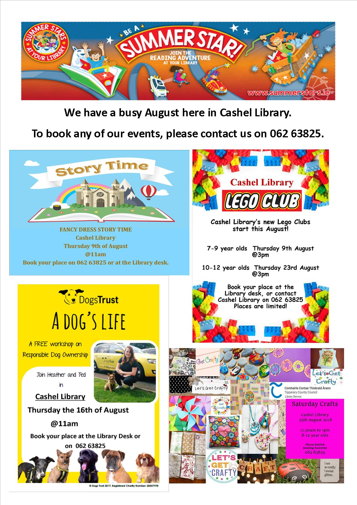 August Events in Cashel Library
