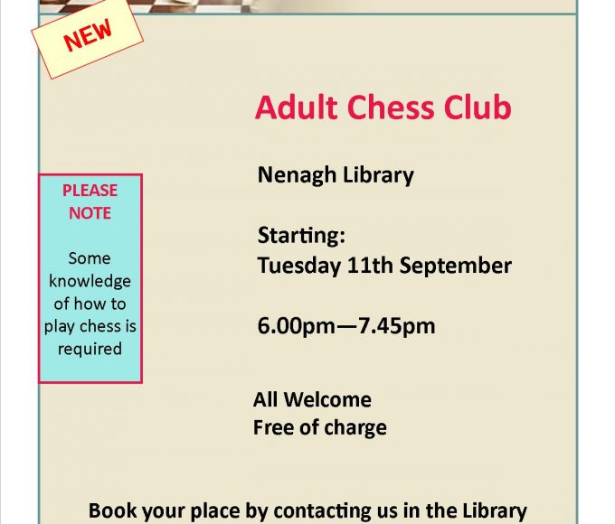 Adult Chess Club Starting In Nenagh Library