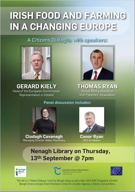 """Irish Food And Farming In A Changing Europe"" : A Citizens Dialogue In Nenagh Library"