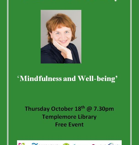 'Mindfulness & Well-being' A Talk With Stella O'Malley In Templemore Library